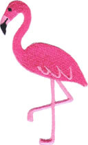 Pink Flamingo Patch Image