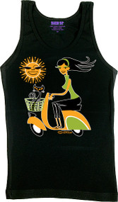 SHAG Sun Scooter Woman's Baby Boy Beater Tank Image