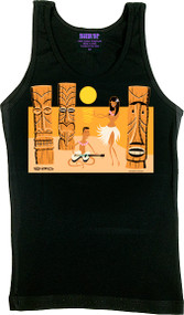 SHAG Tiki Beach Woman's Boy Beater Tank Image