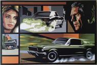 "24x36"" Marco Almera Steve McQueen Bullitt Original Painting"