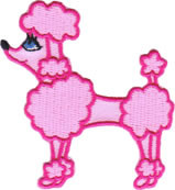 Pink Poodle Patch Image