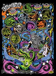 Dirty Donny Zodiac Sticker Capricorn, Aquarius, Aries Signs of the Zodiac