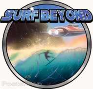 Dirty Donny Surf Beyond Sticker. Surfing, Space, Science Fiction