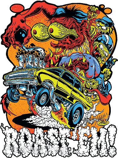 Dirty Donny Roast Em Sticker, Gasser, Rat Fink, Ed Roth, Hot Rod Monster