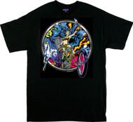 Dirty Donny Blacklight Rebellion T-Shirt, Frazetta, Biker, Chopper, Skeleton, Cosmic, Unicorn