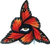 Gustavo Rimada Monarch Sticker, Butterflies, Wings, Orange, Regal, Eye, Triangle