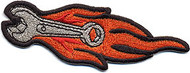 Chuckwagon Flaming Wrench Patch Image