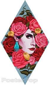 Gustavo Rimada Carmen Sticker, woman, Roses, Hand