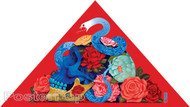 Gustavo Rimada Blooming Serpent Sticker, Skull, Snake, Roses, Triangle