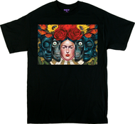 Gustavo Rimada El Ciclo T Shirt, Frida Kahlo, Skulls, Aztek, Ancestry