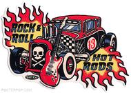 Artist Vince Ray Start Rod Poster Pop Die Cut Sticker