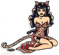 Artist Vince Ray Wild Kitten Poster Pop Die Cut Sticker