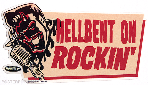 Vince Ray Hellbent Devil Die Cut Poster Pop Sticker