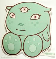 Artist Tara McPherson Hero Poster Pop Sticker. Baby Boo with 3rd Eye. Cute, Kuddly. New Born