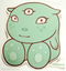 Artist Tara McPherson Hero Poster Pop Sticker. Baby Boo with 3rd Eye. Cute, Kuddly. New Born