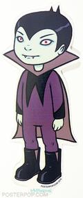 Artist Tara McPherson George Tall Sticker, Young Boy Character, Vampire