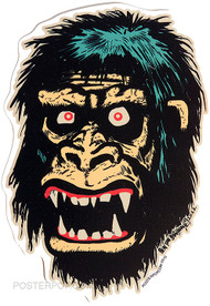 Ben Von Strawn Go Go Gorilla Sticker, Ape, Monkey, Monster