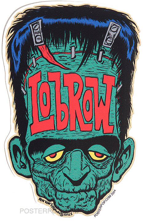 Ben Von Strawn Franken-Lowbrow Sticker, Frankenstein, Monster, Low Brow, Lowbrow, Rockabilly