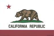 Pop Industries Cal Bear Flag Sticker, California, State Flag, Car Sticker, Decal, California Republic