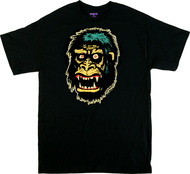 Ben Von Strawn Go Go Gorilla T-Shirt, Ape, Monster, Monkey, Classic, Ed Roth, Next Level Apparel