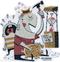 Artist Derek Yaniger Mai Tai Madness Tiki Tropical Drink Drinking Drunk Cocktail Liquor Booze Rum Bartender Bar Barkeep Dad Father Kid Child Crying Cry Wail Hammer Piggy Bank Savings Money Change Coins Sticker