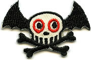 Von Spoon Batty Skull Patch Image