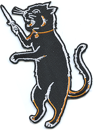 Vince Ray Switchblade Cat LTD Patch, Embroidered Iron On Patches