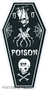 PGS65 Pigors Poison Coffin Sticker, Frankenstein, Skull, 13, Spider Webs, Tattoo, Skeleton, Bones