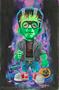 OGBV08 Ben Von Strawn Young Frankenstein Original Painting, Frankie Jr, Junior, Trick or Treater, Cartoon, Acrylic