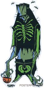 Artist Eric Pigors Franken-Treat Sticker, Tick or Treater, Costume, Frankenstein, Skeleton