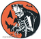 Artist Eric Pigors Franken-Pumpkin Moon Sticker, Great Pumpkin, Halloween, Frankenstein, Monster, Skeleton, Costume, Trick or Treat, Funny, Cartoon, Happy, Humour, Horror