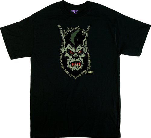 Artist Eric Pigors Bloody Werewolf T-Shirt, Poster Pop, Wolfman, 3rd Stage, Wolf, Man, Teeth, Fangs, Cartoon, Awesome