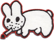 Kozik Smoking Bunny Patch Image