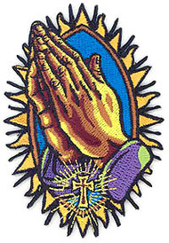 Almera Praying Hands Patch Image