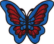 Blue Butterfly Patch Image