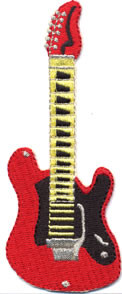 Red Guitar Patch Image