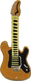 Gold Guitar Patch Image