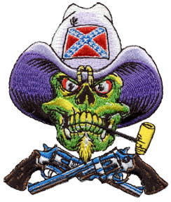 Pizz Rebel Skull Patch Image