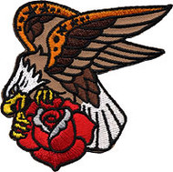 Reed Eagle and Rose Patch Image
