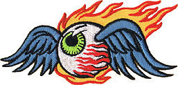 Reed Flaming Eyeball Patch Image