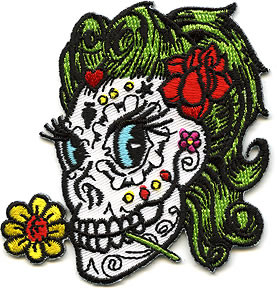 Reed Bettie Skull Patch Image