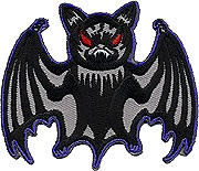 Kruse Winged Masquerado Patch, Bat, Image