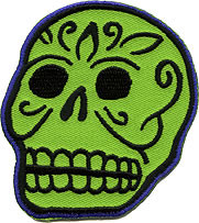 Kruse Green Skull Patch Image