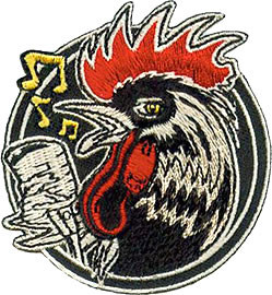 Kruse Rockabilly Rooster Patch Image