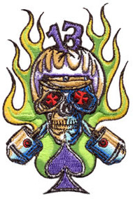Von Franco Cycle Skull Patch Image