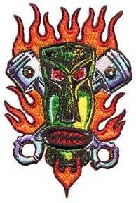 Von Franco Piston Tiki Patch Image