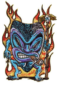 Von Franco Smokin Tiki Patch Image