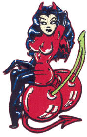Vince Ray Cherry Bomb Patch Image