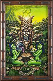 BigToe Zombie Tiki Fine Art Print Image