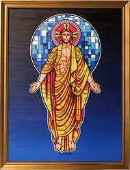 Almera Stained Glass Jesus Original Painting Image